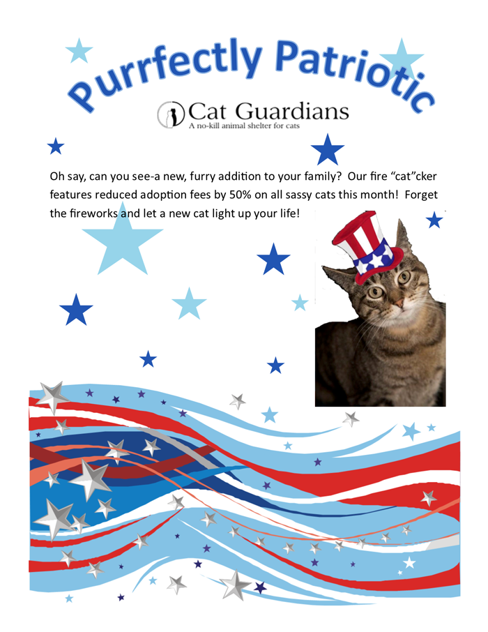 Purrfectly Patriotic